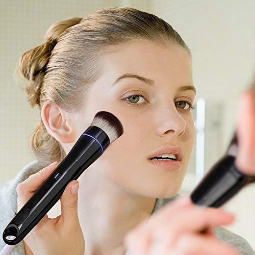 Brosse de Maquillage, Automatique Brosse cosmétique électrique USB Rechargeable 360 ° Rotatable Foundation Brush Set (Deux têtes de Brosse)
