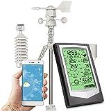 Umitive Estación Meteorológica WiFi con 10 en 1 Sensor Exterior,...