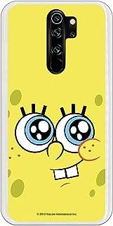 Funda para Xiaomi Redmi Note 8 Pro Oficial de Bob Esponja Bob Mirada Complice para Proteger tu móvil. Carcasa para Xiaomi de Silicona Flexible con Licencia Oficial de Nickelodeon.