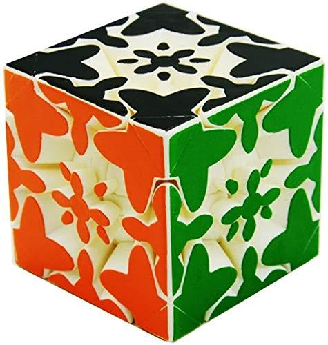 RENFEIYUAN Creativo □ Generación 3x3x3 Engranaje Pintado de Color sin Etiqueta MA Liso MA 3D Rubik Cubo (Color : White)