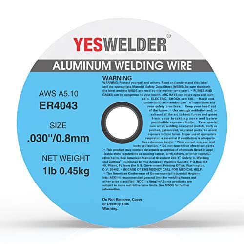 YESWELDER Silicon Aluminum Welding Wire ER4043 .030-Diameter, 1-Pound Spool