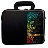 Theskinmantra Think Positively Laptop Sleeve with Zipper & Handle for 15 to 15.6
