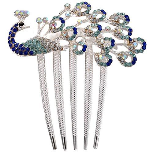 Egurs Vintage Sieraden Haaraccessoires Crystal Pauw Haar Clips voor haarclip Leuke Schoonheid Gereedschap