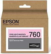 Epson T760620 UltraChrome HD Vivid Light Magenta Standard Capacity Cartridge Ink