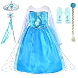 Includes dress,tiara,wand,wig,gloves. There are lots of sequins in front of the chest, which are very attractive to girls. Rich accessories, your little princess will love it Made from non-itchy and comfortable fabric,2 layers fluffy skirt. Great for...
