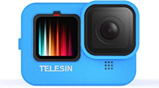 Telesin Funda de silicona para GoPro Hero 9 Black,Hero 9 Funda y cordón con tapa de objetivo