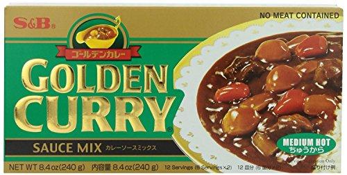 S&B Golden Curry Sauce Mix, Medium Hot, 8.4-Ounce (5 Packs)