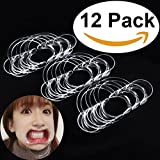 Aestheticism Dental Intraoral Cheek Lip Retractor (Kid Size) Mouth Opener for Fun Speaking Game 'Watch Ya Mouth' & 'Speak Out', Mouth Guard Challenge | C-Shape 12 Pack (NEW 2017 MODEL)
