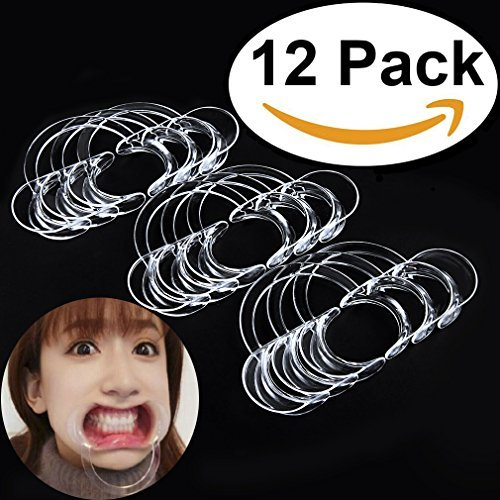 Aestheticism Dental Intraoral Cheek Lip Retractor Kid Size Mouth Opener For Fun Speaking Game Watch Ya Mouth Speak Out Mouth Guard Challenge C Shape 12 Pack New 2017 Model Buy Online In