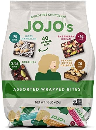 JOJO s Dark Chocolate Bites Made with Hemp Plant Based Protein Low Sugar Low Carb Vegan Paleo product image