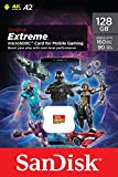 SanDisk Extreme Tarjeta de memoria microSD de 128 GB para juegos en el móvil, con A2 App Performance, gráficos de juegos AAA/3D/VR,video 4K UHD,160 MB/s lectura,90 MB/s escritura,Clase 10,UHS-I,U3,V30