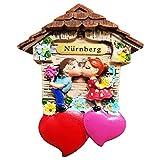 Ciffre Magnet Herz Polyresin Kühlschrank Kuss 3D Paar - Nürnberg