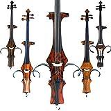 Aliyes Violonchelo eléctrico de madera maciza profesional hecho a mano 4/4 tamaño completo silencioso eléctrico grano de madera de violonchelo