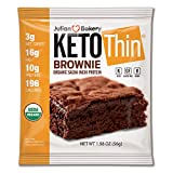 Julian Bakery® Keto Thin® Brownie | USDA Organic | Vegan | Gluten-Free | 3 Net Carbs | 8 Brownies |