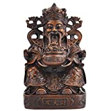 Estatua DIOS DE LA MADERA DE LA IMITACIÓN DE LA RESINA DE LA ESTATUA DE LA RIQUEA, LA ESCULTURA DE ARTE MODERNA, LA ESTATUA DE BUDDHA China, la decoración del hogar de alta gama Artesanía de 9.84 pulg