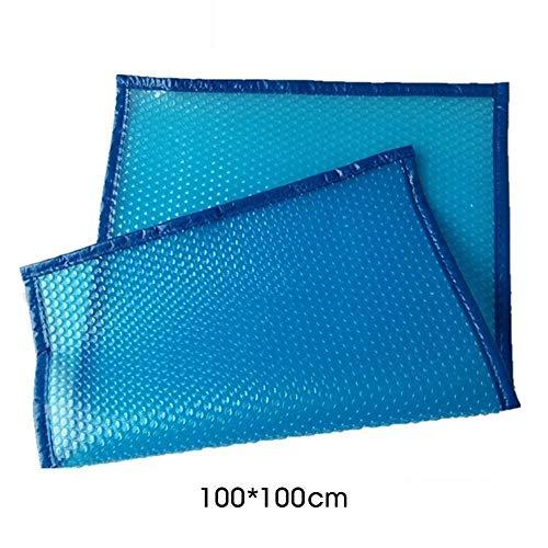 Pool-Abdeckung Pool-Abdeckung wasserdicht staubdichte Isolierung Film mit perforiertem Edging Blau Solardeckel Blasen Film QPLNTCQ (Color : Blau, Size : 100x100cm)