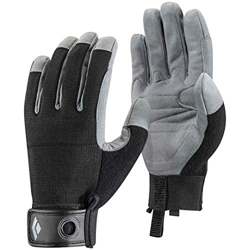 Black Diamond Crag Climbing Gloves, Black, Large