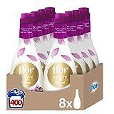 Flor Revive - Suavizante para la ropa concentrado, aroma floral - Pack de 8, hasta 400 dosis