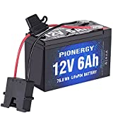 Battery for Fisher Price Power Wheels, 12V 2000 Cycles LiFePO4 Lithium Battery Iron Phosphate Battery with Built-in BMS for RV, Ride on Toys Battery