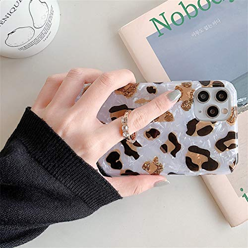 Bakicey iPhone 12 Pro Max Hülle, iPhone 12 Pro Max Marmor Handyhülle mit 360 Grad Ring Ständer Ultra Dünn Soft Silikon TPU Bumper Stoßfest Case Anti-kratzt Schutzhülle für iPhone 12 Pro Max, 13