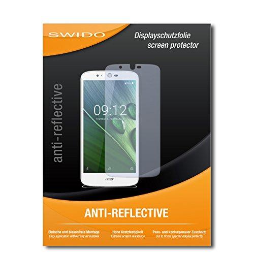 SWIDO Schutzfolie für Acer Liquid Zest Plus [2 Stück] Anti-Reflex MATT Entspiegelnd, Hoher Festigkeitgrad, Schutz vor Kratzer/Bildschirmschutz, Bildschirmschutzfolie, Panzerglas-Folie