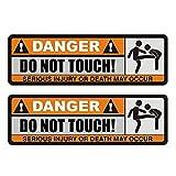 kuaetily Autoaufkleber Aufkleber für Auto Autosticker Danger DO NOT Touch
