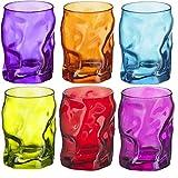 Bormioli Rocco Sorgente Bicchieri vetri colorati - 300ml (10.5oz) - Multicolore - Lotto di 6