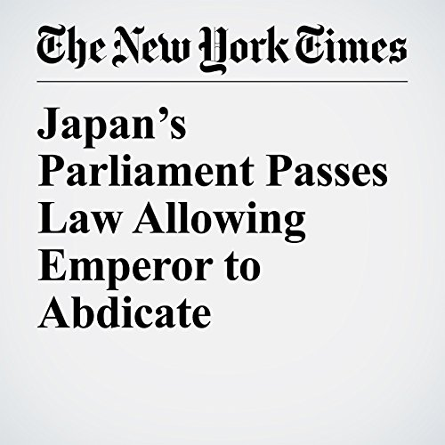 Japan's Parliament Passes Law Allowing Emperor to Abdicate copertina