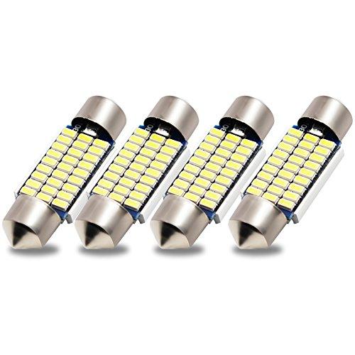 Kashine C5W LED 36mm Blanc 3014 Ampoules 27SMD Festoon LED Dôme Voiture Intérieur LED Lumière Lampe de Plaque d'Immatriculation 12V (4 pièces)