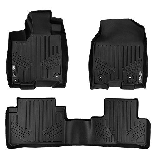 MAXLINER Floor Mats 2 Row Liner Set Black for 2013-2018 Acura RDX with 8-Way Front Passenger Seat