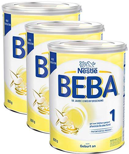 Nestlé BEBA Anfangsmilch 1, Anfangsnahrung von Geburt an, 3er Pack (3 x 800g)