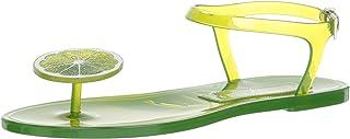 Katy Perry Women's The Geli Flat Sandal, Lime, 7 M Medium US