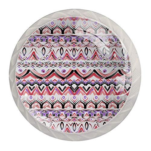 Runde Schrankknäufe für Kommode, Schubladen, Schrank, indischer Stil, 4 Stück