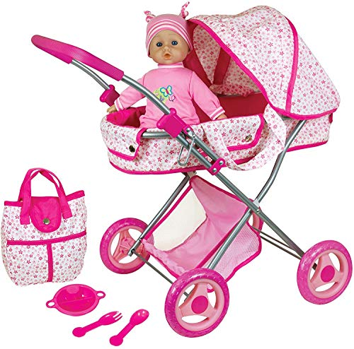 Lissi Doll Pram with 13' Baby Doll & Accessories Role Play Toy