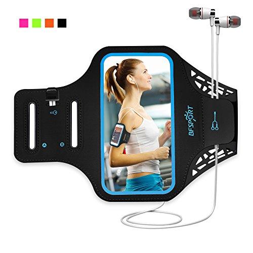 Qrity Brazalete del teléfono celular con toque de huella dactilar, Brazalete del teléfono de la cubierta del caso para correr Ejercicio de ejercicios de gimnasia para iPhone X / 8/7 / 6S / 6 Plus / 5, Galaxy S8 / S7 / S6, Google Pixel (5.5'')