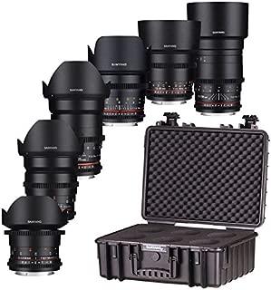 Samyang VDSLR Lens Kit for Sony FE Mount Camera - Black,7412