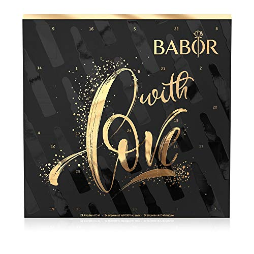 BABOR Adventskalender, 24-Tage-Intensiv-Ampullen-Kur, Feuchtigkeit, Regeneration und Anti-Aging, Beauty-Set, Kosmetik-Kalender, 24 x 2 ml