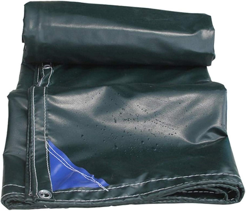 Tarp Fireproof Tarpaulin with Eyelets Flame Retardant Tarp Sheet Waterproof Shed Cloth Rainproof Awning  550g m2, Black