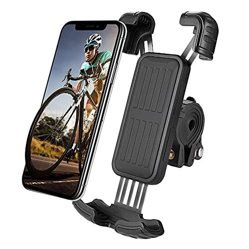 Haisito Handyhalterung Fahrrad, Verbesserter Handyhalterung Motorrad Werkzeuglose Installation 360° Drehbar, Universal Handy Halterung Fahrradlenker für iPhone, Samsung, Huawei und Andere Smartphone