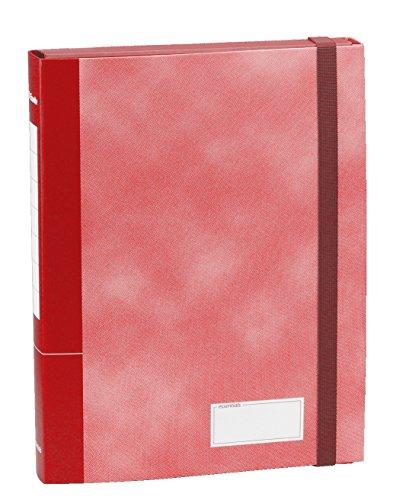 ESSELTE C70 ESSENTIALS Cartella a scatola con elastico - dorso 4 cm - Rosso - 390370160