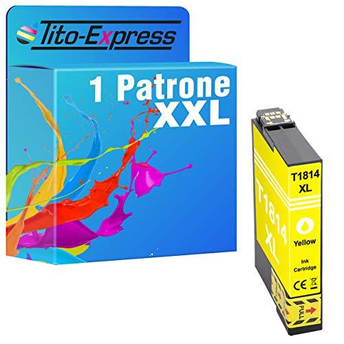 Tito-Express Cartucho ProSerie 1 compatible con Epson T1814XL 18 XL con 13 ml amarillo XXL Contenido XP-102 XP-200 XP-202 XP-205 XP-210 XP-212 XP-215 XP-225 XP-30