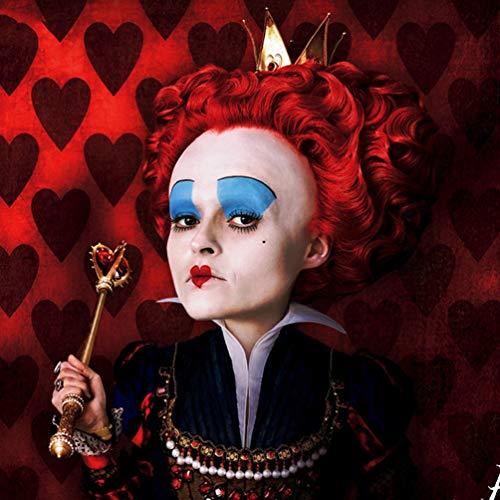 Cosplay Perücke Alice im Wunderland Rote Königin Anime Kurze Lockige Wellige Haare Schlafwandeln Wunderland Deluxe Kostüm Keine Spitze Hitzebeständige Synthetische Perücke Party Halloween