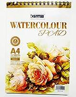 KABEER ART® Hardback, Spiral A4, 180 GSM Artist's Drawing Pad, 297x 210mm - 24 Sheets