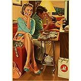 Seconda Guerra Mondiale Rosso Pin-Up delle Ragazze URSS Sovietica Vintage Retro Poster Bar Cafe Soggiorno Tela Pittura Poster Pittura Frameless 50X70 Cm (F: 0790)