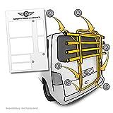 lackschutzpads apto para portabicicletas modelo véase Descripción–Etiqueta, barniz protector de pantalla transparente/protectoras (7piezas) para–Portabicicletas trasero y portón bicicleta