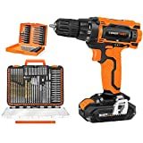 EnerTwist 20V Max Cordless Drill and 112-Pieces 1/4' Hex Shank Impact Driver Bits and Screwdriver Bits Set Combo Kit