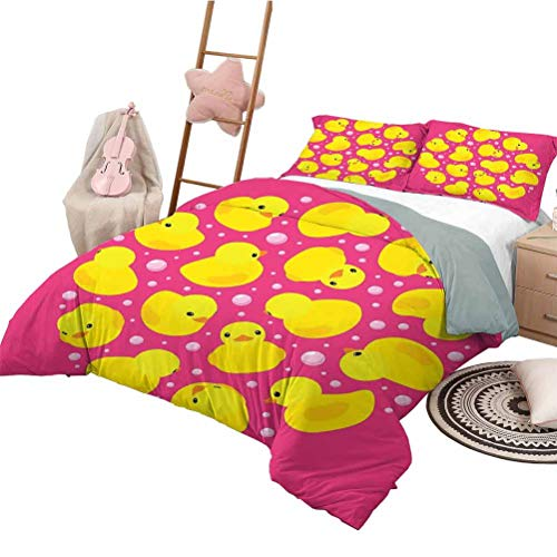 Best Bargain Rubber Duck Bedding Sets Full, Bedding Set All Season Quilt Set Fun Baby Duckies Circle...