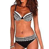 MRULIC Damen Reizvoller Zweiteilige Bikini Set Push Up Gepolstert Cups