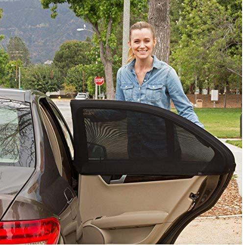 AMOYER Car Sun Shades pour Les Enfants (2 Pack), Universal Car Window Shade avec Protection UV | Protège Votre bébé, Les Animaux et Les Enfants Plus âgés du Soleil