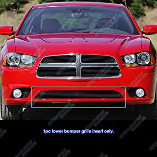 APS Compatible with 2011-2014 Dodge Charger Black Lower Bumper Billet Grille Grill Insert N19-H57866D